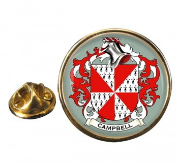 Campbell of Loudoun Coat of Arms Round Pin Badge