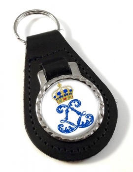 Monogram of Louis XIV (France) Leather Key Fob