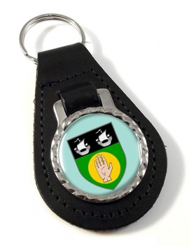 County Louth (Ireland) Leather Key Fob