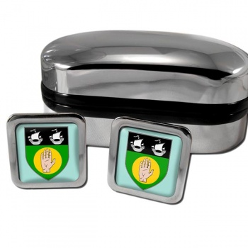 County Louth Ireland Square Cufflinks