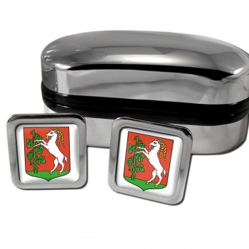 Lublin Poland Square Cufflinks