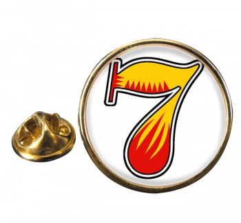Lucky 7 Round Pin Badge