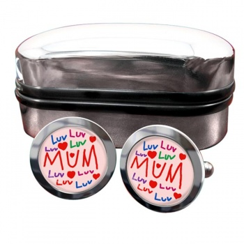 Love Mum Round Cufflinks