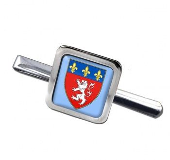 Lyon (France) Square Tie Clip