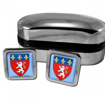 Lyon France Square Cufflinks