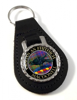 Macdonell Scottish Clan Leather Key Fob