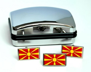 Macedonia  Flag Cufflink and Tie Pin Set