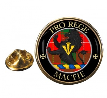 Macfie modern Scottish Clan Round Pin Badge