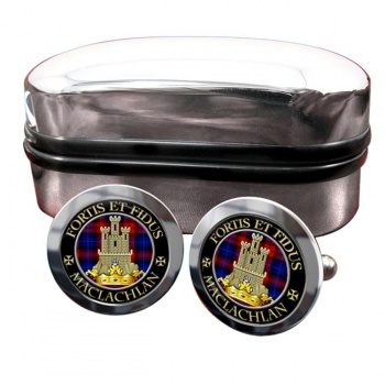 Maclachlan Scottish Clan Round Cufflinks