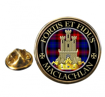 Maclachlan Scottish Clan Round Pin Badge