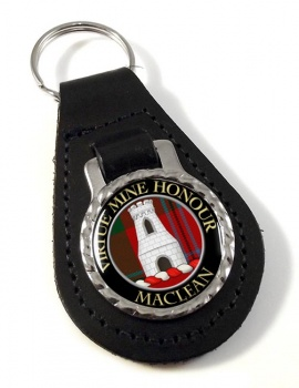 Maclean Scottish Clan Leather Key Fob