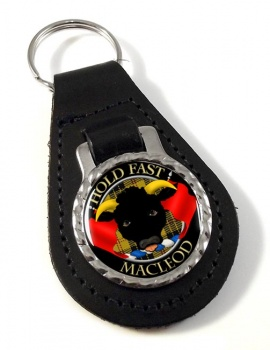 Macleod Scottish Clan Leather Key Fob