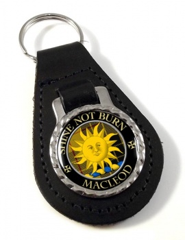 Macleod of Lewis (English) Scottish Clan Leather Key Fob