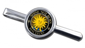 Macleod of Lewis (English) Scottish Clan Round Tie Clip