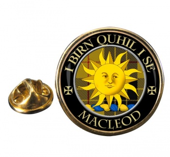 Macleod of Lewis (Old Scots) Scottish Clan Round Pin Badge