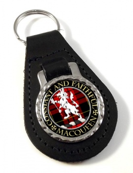 MacQueen Scottish Clan Leather Key Fob