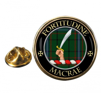 Macrae Scottish Clan Round Pin Badge