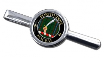 Macrae Scottish Clan Round Tie Clip