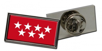Madrid Comunidad (Spain) Flag Pin Badge