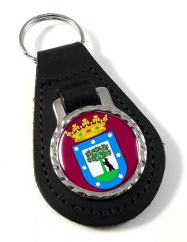 Madrid (Spain) Leather Key Fob