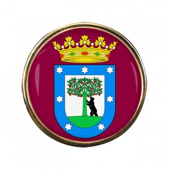 Madrid (Spain) Round Pin Badge