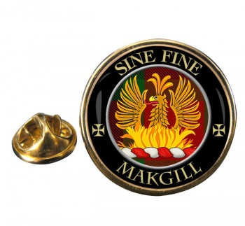 Makgill Scottish Clan Round Pin Badge