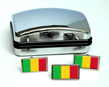 Mali Flag Cufflink and Tie Pin Set
