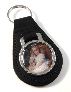 Marie Antoinette Leather Key Fob