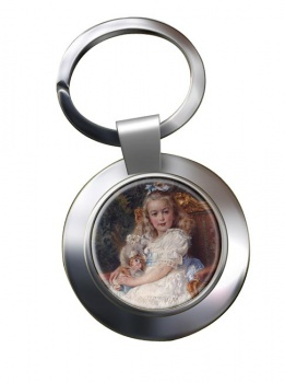 Marie Antoinette Chrome Key Ring