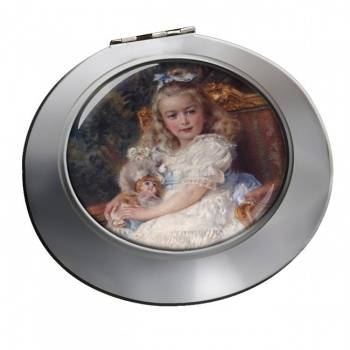Marie Antoinette Chrome Mirror