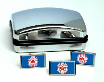Markham (Canada) Flag Cufflink and Tie Pin Set