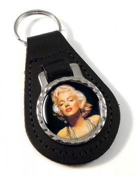 Marilyn Monroe Leather Key Fob