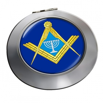 Jewish Masonic Menorah Chrome Mirror