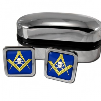 Masonic Skull Square Cufflinks