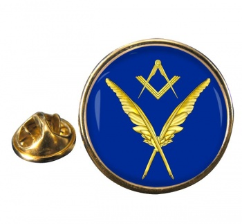 Masonic Lodge  Secretary Round Pin Badge