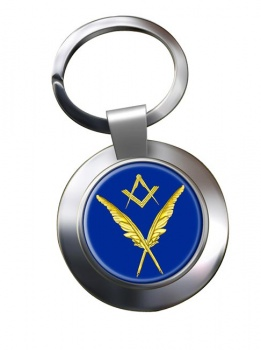 Masonic Lodge  Secretary Chrome Key Ring