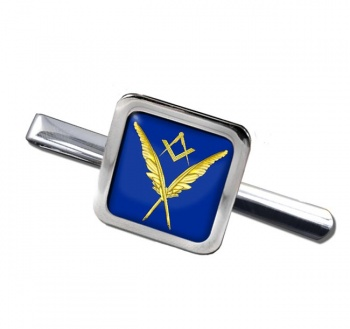 Masonic Lodge  Secretary Square Tie Clip
