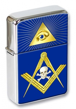 Masonic Skull Flip Top Lighter