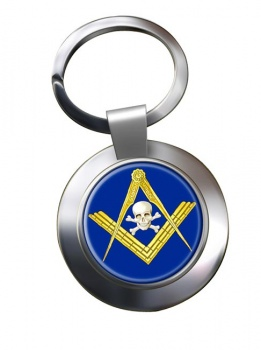 Masonic Skull Chrome Key Ring