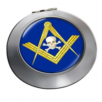 Masonic Skull Chrome Mirror