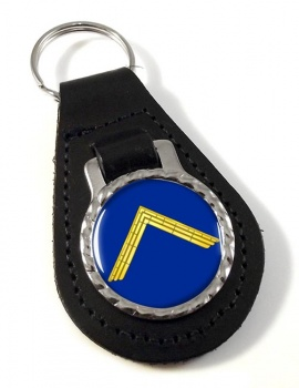 Masonic Master Bonded Leather Medallion Keyfob