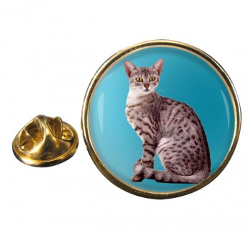 Egyptian Mau Cat Round Pin Badge