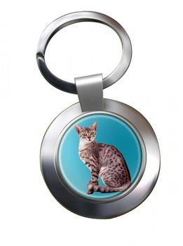 Egyptian Mau Cat Metal Key Ring