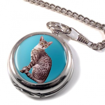 Egyptian Mau Cat Pocket Watch