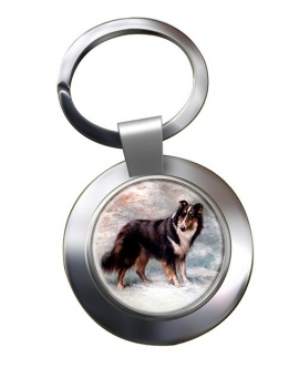 Collie by Maud Earl Metal Key Ring