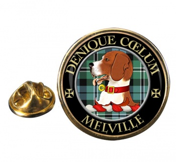 Melville Scottish Clan Round Pin Badge