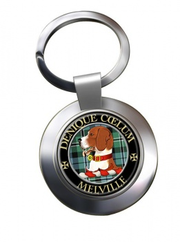Melville Scottish Clan Chrome Key Ring