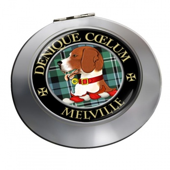 Melville Scottish Clan Chrome Mirror