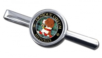Melville Scottish Clan Round Tie Clip