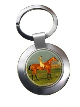 Racehorse Menmon with William Scott up Chrome Key Ring